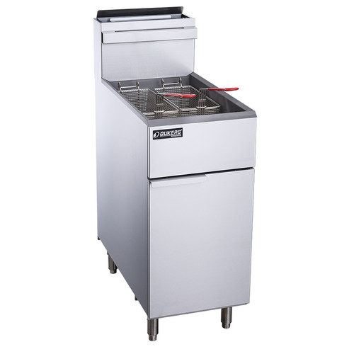 Dukers DCF3-NG Natural Gas Fryer with 3 Tube Burners