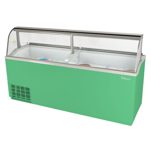 """Turbo Air TIDC-91G-N 91"""" Ice Cream Dipping Cabinet - Green"""