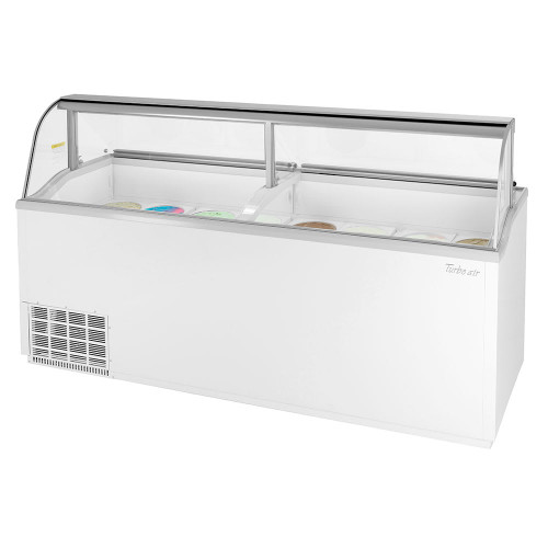 """Turbo Air TIDC-91W-N 91"""" Ice Cream Dipping Cabinet - White"""