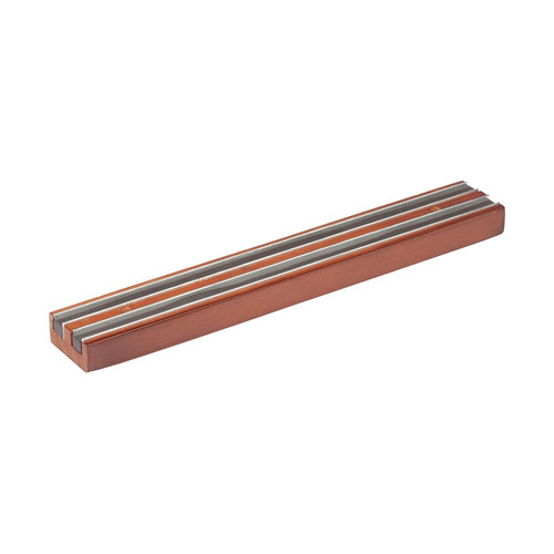 """Winco WMB-12 Magnetic Knife Bar, Wooden Base - 12"""""""