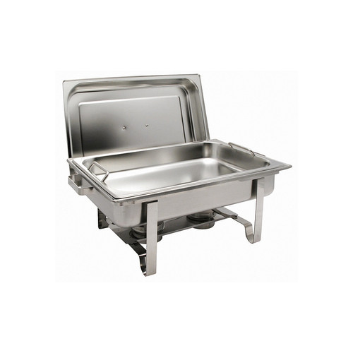Winco C-2080B Get-A-Grip 8 Quart Full-Size Chafer, Stainless Steel