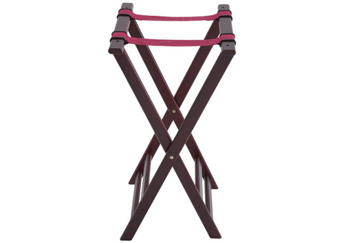 Winco TR-34W Deluxe Hardwood Tray Stand w/Mahogany Finish