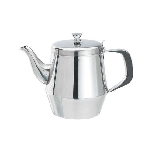 Winco JB2932 32 oz. Stainless Steel Gooseneck Teapot