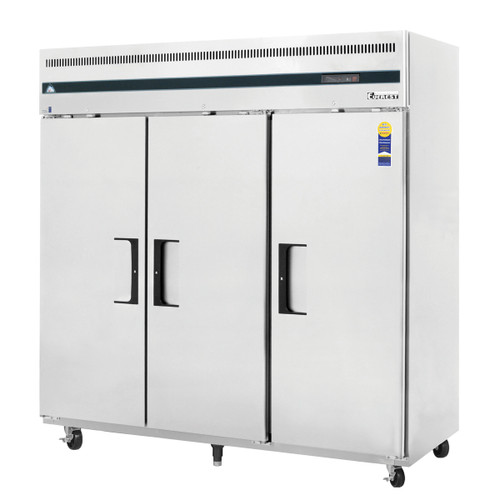 """Everest Refrigeration ESF3 74.75"""" Three Section Solid Door Upright Reach-In Freezer - 71 Cu. Ft."""
