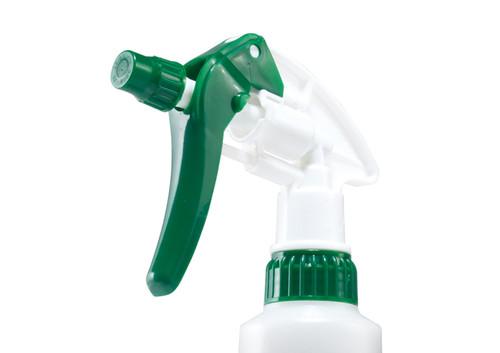Winco PSR-9 28 oz. Plastic Spray Bottle, Green Trigger