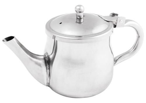 Winco GS-10 Teapot, 10 oz, Gooseneck, Stainless Steel (GNS-10)