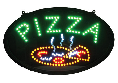 """Winco LED-11 LED Sign, """"PIZZA"""", w/Dust Proof Cover"""