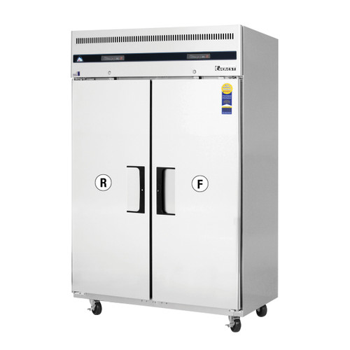 """Everest Refrigeration ESRF2A 49.63"""" Two Section Solid Door Upright Reach-In Dual Temp Refrigerator/Freezer Combo"""