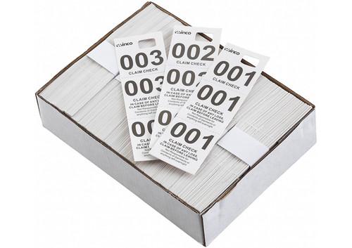 Winco CCK-5WT Coat Check White, (500 pieces per box)
