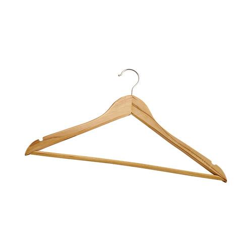 Winco WCH-1 Open Swivel Hook Hardwood Coat Hangers - 12/Box