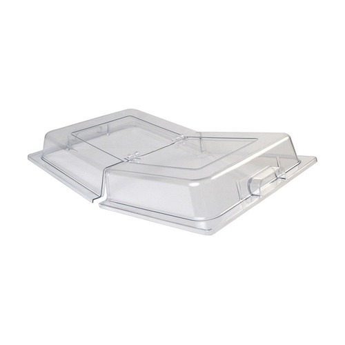 """Winco C-DPFH 21"""" x 13"""" Full Size Hinged Polycarbonate Dome Display Cover"""
