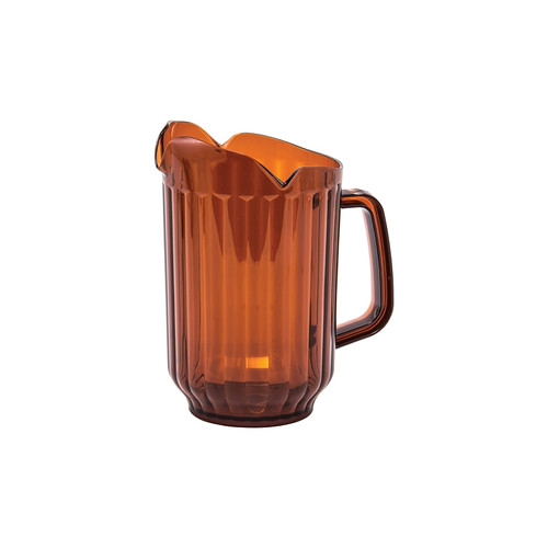 Winco WPCT-60A 60 oz. Amber Polycarbonate Pitcher with 3 Spouts