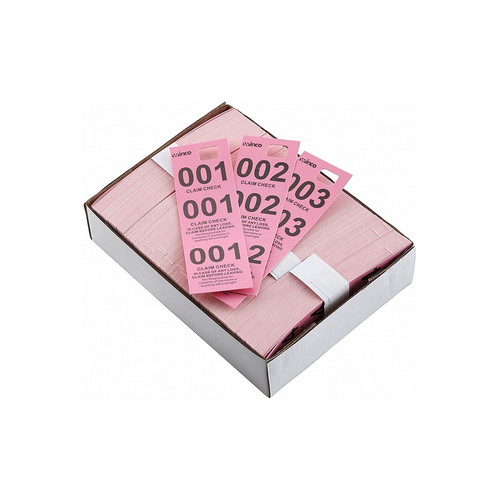 Winco CCK-5PK Pink Coat Check Tickets - 500/Box