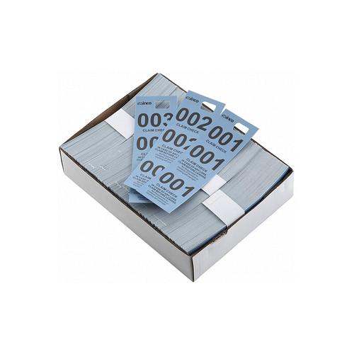 Winco CCK-5BL Blue Coat Check Tickets - 500/Box