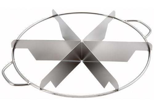 Winco SCU-6 Stainless Steel Pie Cutters, 6 Cut