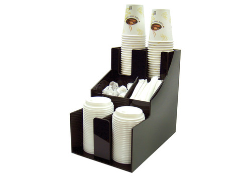 Winco CLSO-2T Cup & Lid Dispenser, 3 Tiers, 2 Stacks