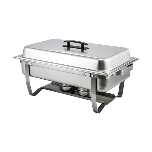 Winco C-4080 8 Quart Full-Size Folding Stand Chafer, Stainless Steel