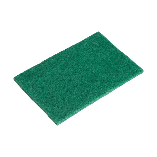 """Winco SP-96N 9 3/8"""" x 6"""" Dark Green Souring Pads - 6/Pack"""