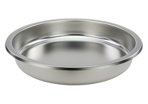Winco 602-FP Chafer Dish Pan, 6 Qt, Round, for 602