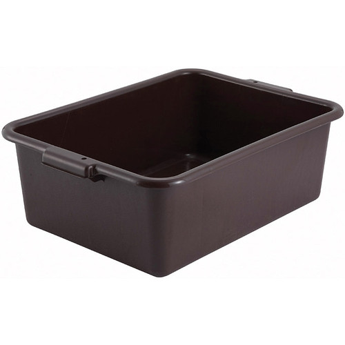 """Winco PL-7B Dish Box, 21-1/2"""" x 15"""" x 7"""", Brown, 1-Compartment"""