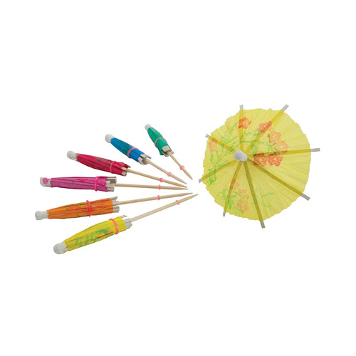 Winco PK-P4 Cocktail Parasol Pics with Assorted Colors - 144/Box