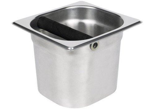 "Winco SCD-5 Coffee Knock box, 7"" x 6"" x 5"", Stainless Steel"