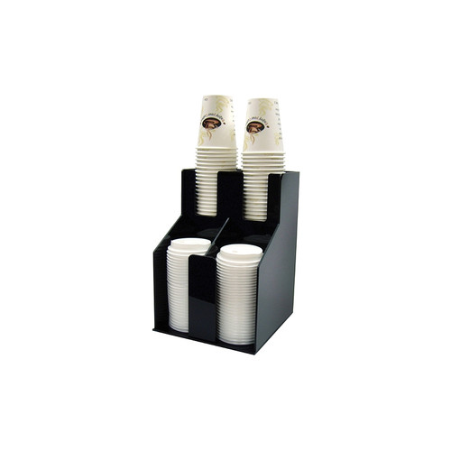 Winco CLO-2D Cup & Lid Organizer, 2 Tiers, 2 Stacks