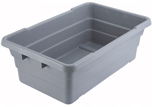 "Winco PL-8 24"" x 15"" x 8"" Grey Nesting Lug Box"