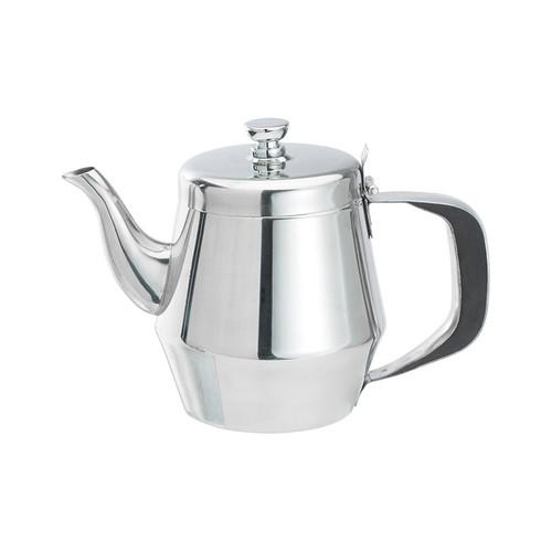 Winco JB2920 20 oz. Stainless Steel Gooseneck Teapot