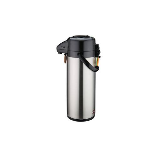 Winco APSP-930 Stainless Steel Lined Airpot with Push Button - 3 Liter