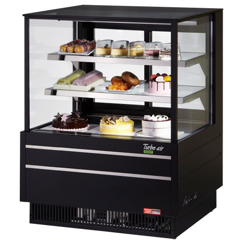 "Turbo Air TCGB-36UF-B-N 36"" Refrigerated Bakery Case, European Straight Front Glass, Black (TCGB-36UF-B-N)"