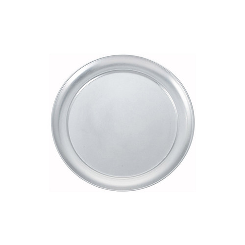 "Winco APZT-11 11"" Wide Rim Aluminum Pizza Pan"