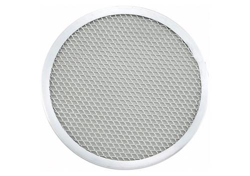 "Winco APZS-8 Pizza Screen, 8"" dia., Round, Seamless, Aluminum"