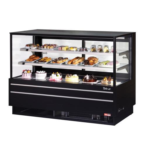 "Turbo Air TCGB-72UF-B-N 72"" Refrigerated Bakery Case, European Straight Front Glass, Black (TCGB-72UF-B-N)"