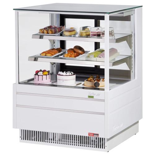 "Turbo Air TCGB-36UF-W-N 36"" Refrigerated Bakery Case, European Straight Front Glass, White (TCGB-36UF-W-N)"