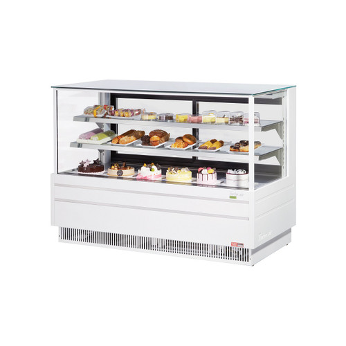 "Turbo Air TCGB-72UF-W-N 72"" Bakery Case - European Straight Front Glass - White (TCGB-72UF-W-N)"