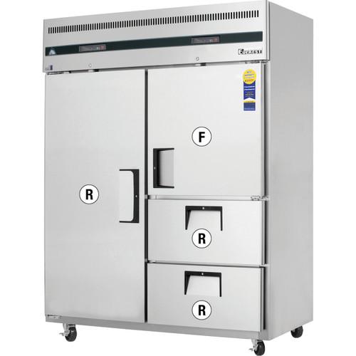 Everest Refrigeration ESWQ2D2 - Reach-In Dual Temp, 2-Section
