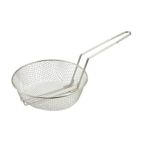 "Winco MSB-10M 10"" Round Medium Mesh Culinary Basket"