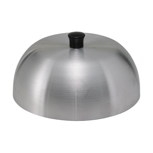 """Winco AHC-6 6"""" Round Grill Basting Cover, Dome Shape, with Black Knob"""