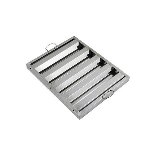 """Winco HFS-2016 20""""W x 16""""H Stainless Steel Hood Filter"""