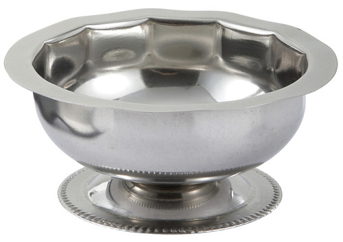 Winco SD-5 Sherbet Dish, 5 oz., Footed, Stainless Steel