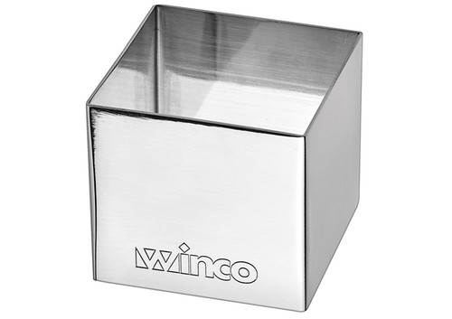 """Winco SPM-22S Stainless Steel Pastry Mold, Square, 2""""W x 2""""D x 2""""H"""