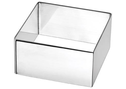 """Winco SPM-275S Stainless Steel Pastry Mold,  Square, 2-3/4""""W x 2-3/4""""D x 1-3/4""""H"""