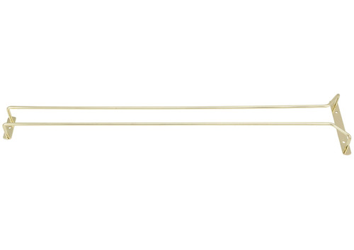 """Winco GH-24 Wire Glass Hanger, 24"""", Brass Plated"""