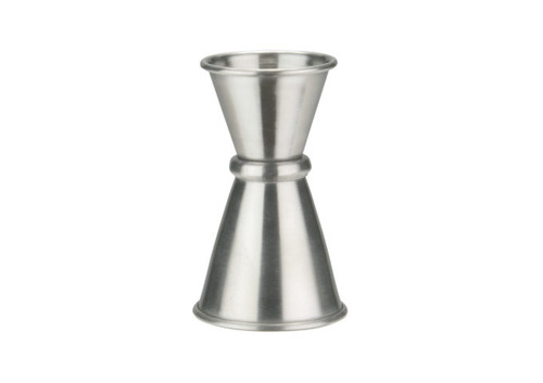 Winco J-7 Japanese-Style Jigger, 1/2 oz. x 1 oz., Stainless Steel