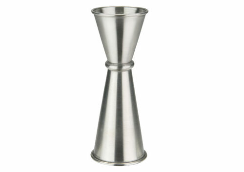 Winco J-9 Japanese-Style Jigger, 1 oz. x 2 oz., Stainless Steel