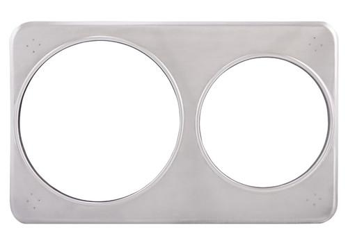 Winco ADP-608 Adaptor Plate, Stainless Steel, Fit (1) 4 QT & (1) 7 QT