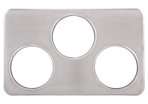 Winco ADP-666 Adaptor Plate, Stainless Steel, Fit (3) 4 QT