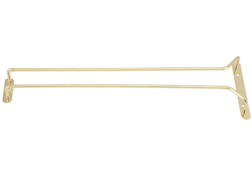 """Winco GH-16 Wire Glass Hanger, 16"""", Brass Plated"""
