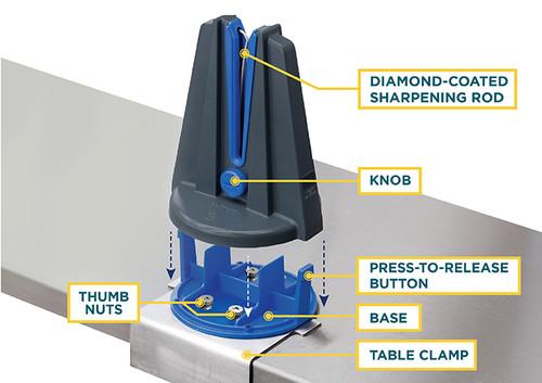 Winco KSP-6 Blade Station Hands-Free Knife Sharpener